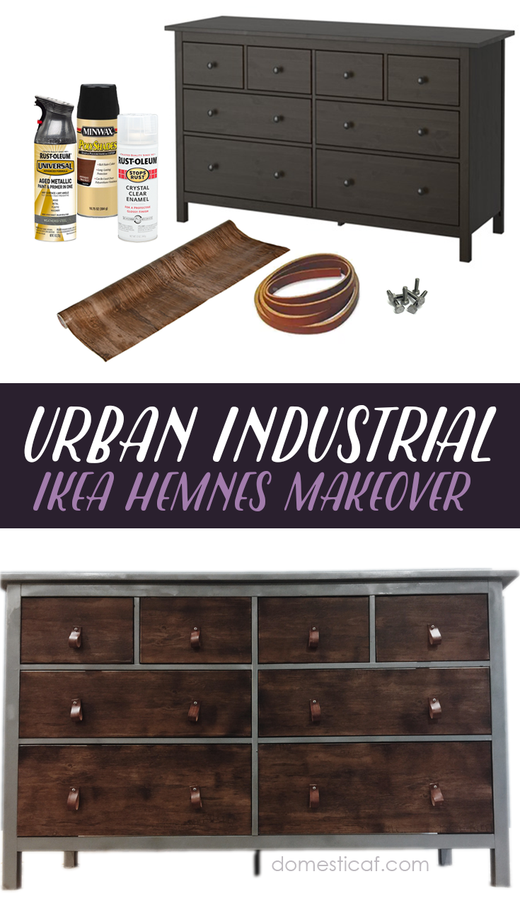 ikea hack urban industrial dresser domestic af. Black Bedroom Furniture Sets. Home Design Ideas